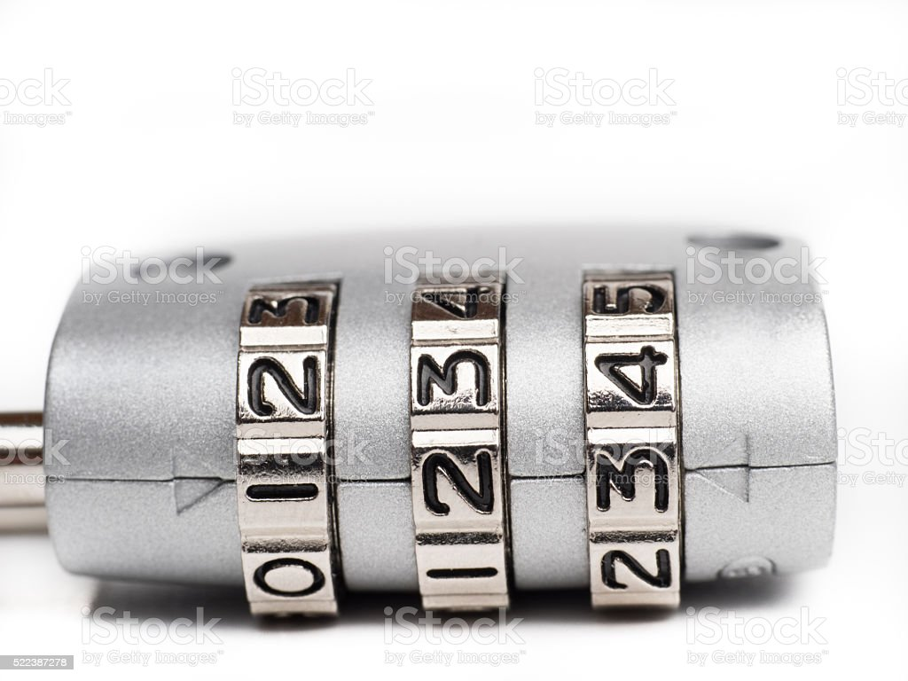 Padlock security code stock photo