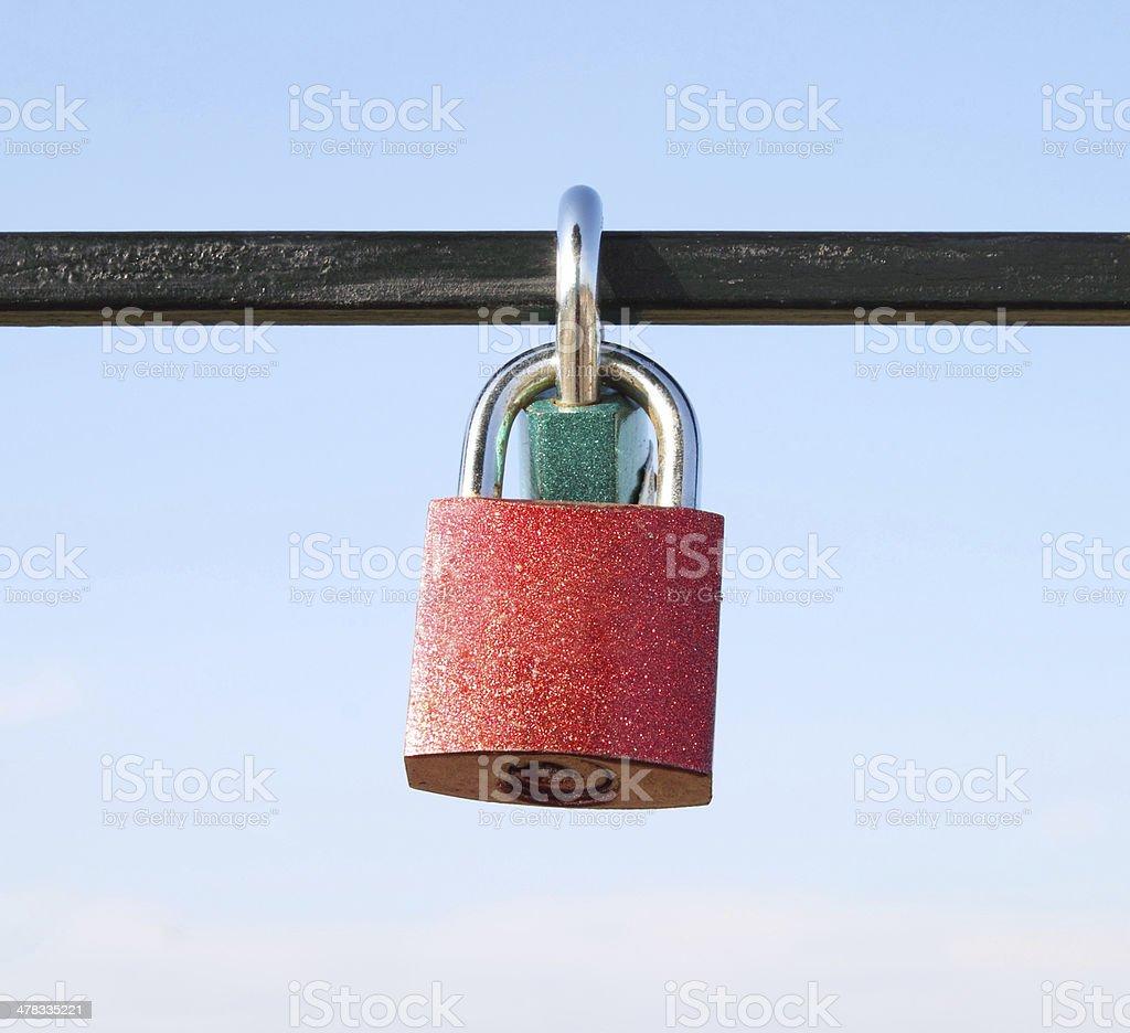 padlock with blue sky royalty-free stock photo