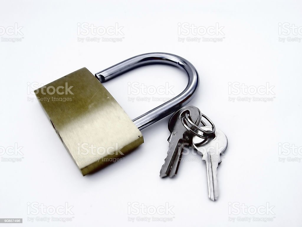 Padlock With Keys royalty-free stock photo