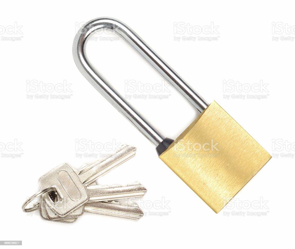Padlock With Keys stock photo