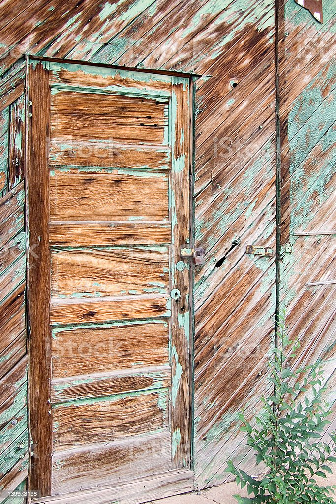 Padlocked Door stock photo