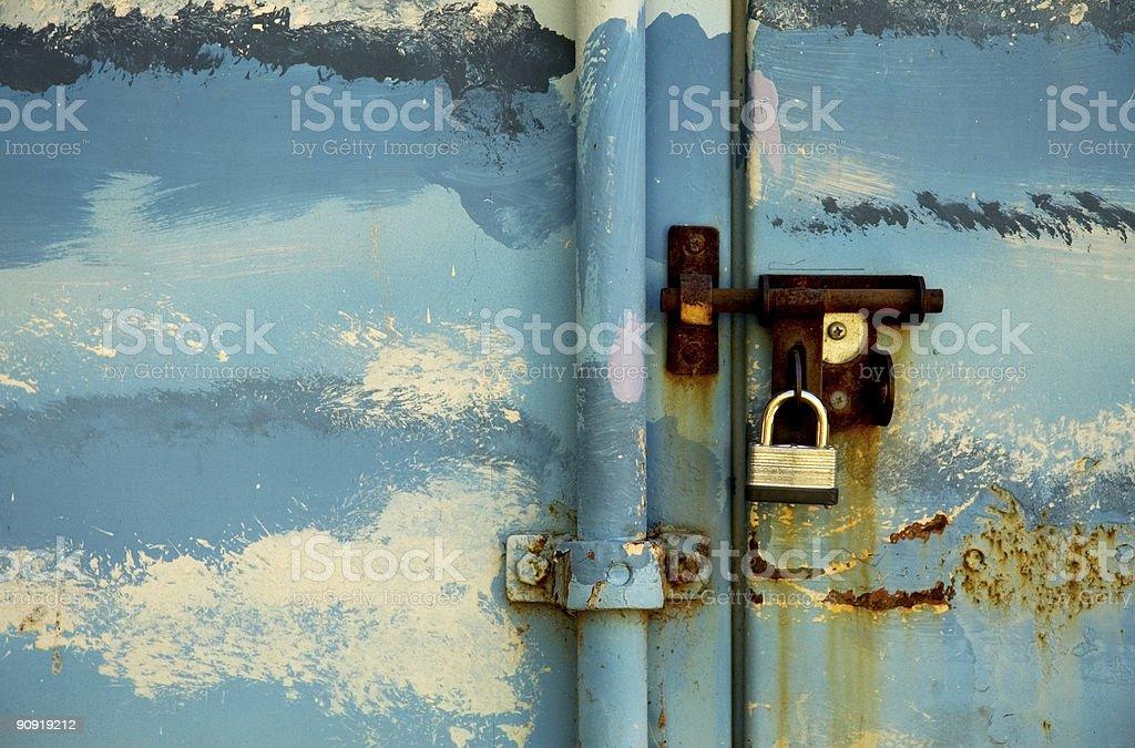 Padlocked Locker royalty-free stock photo