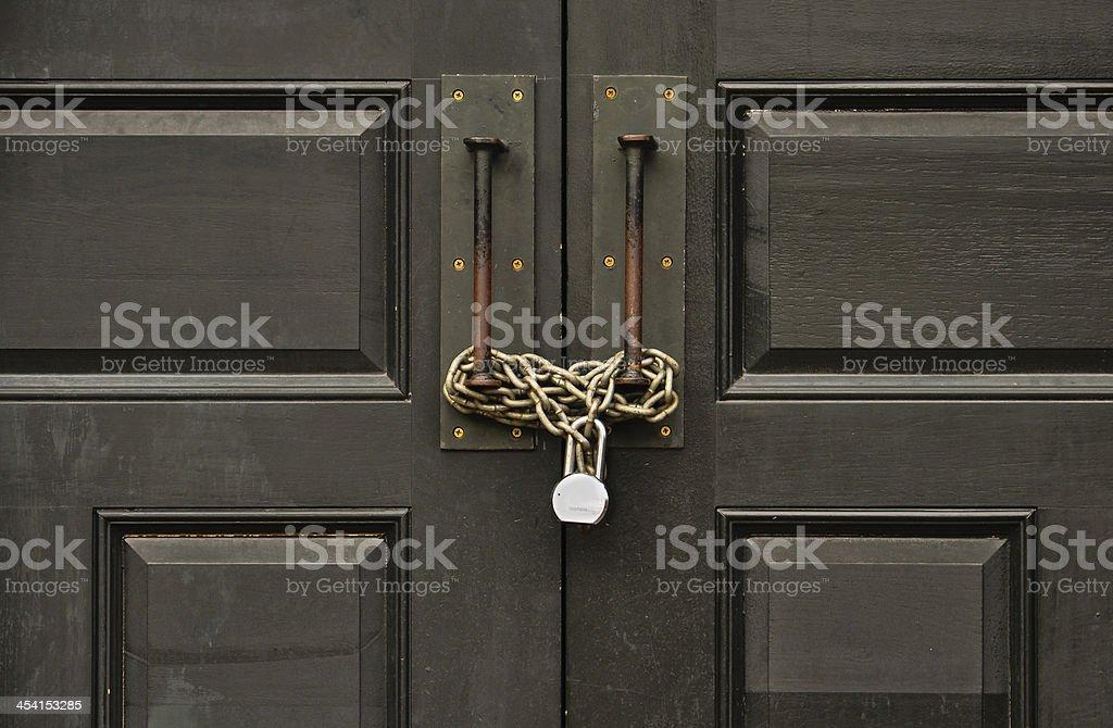 ... padlocked wooden door stock photo ... & Lock Door Pictures Images and Stock Photos - iStock Pezcame.Com