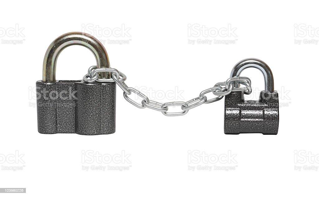 Padlocks And Chain royalty-free stock photo