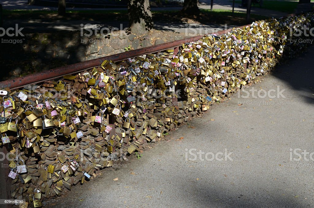 Padlocks as Love Symbol stock photo