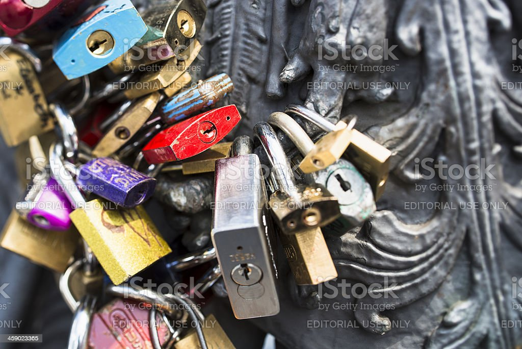 Padlocks for Love in Berlin royalty-free stock photo