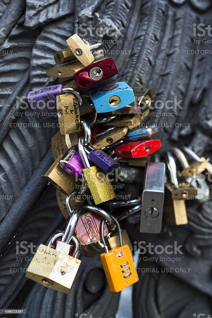 Padlocks for Love in Berlin royalty-free stock photo
