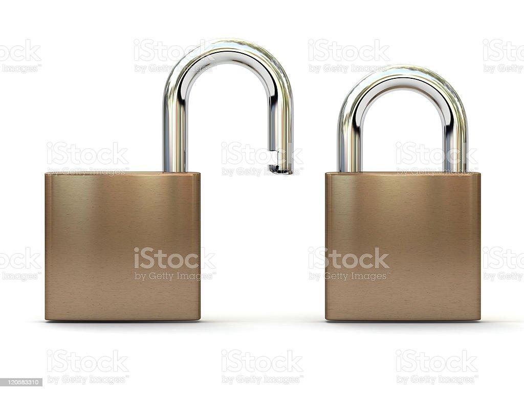 padlocks isolated on a white background royalty-free stock photo