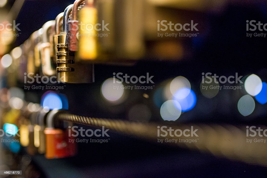 Padlocks of Love stock photo