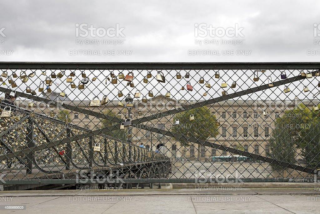 Padlocks on the Pont des Arts royalty-free stock photo