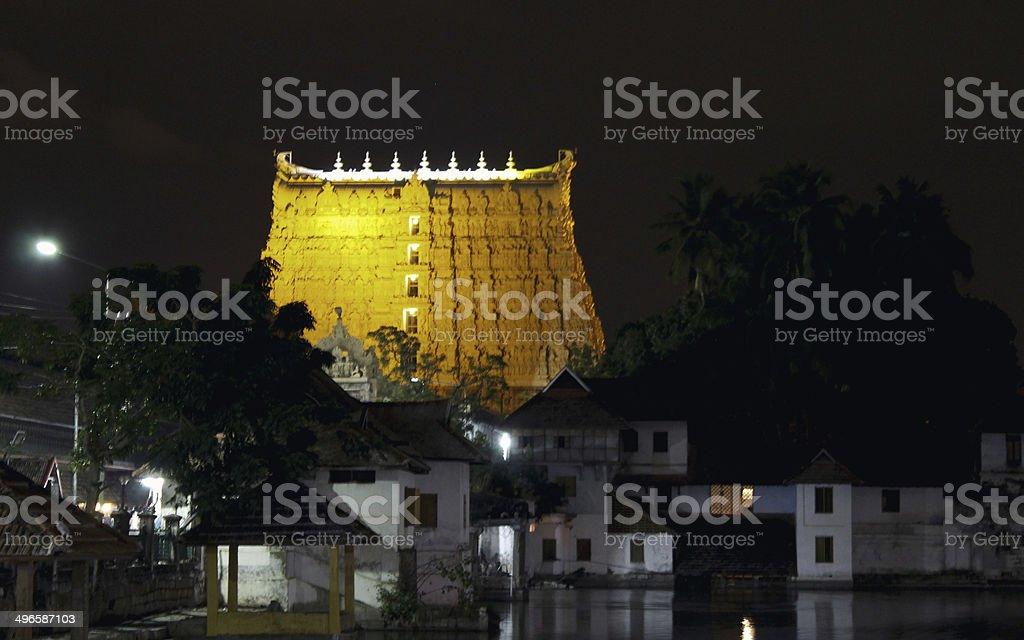 Padmanabhaswamy Temple stock photo