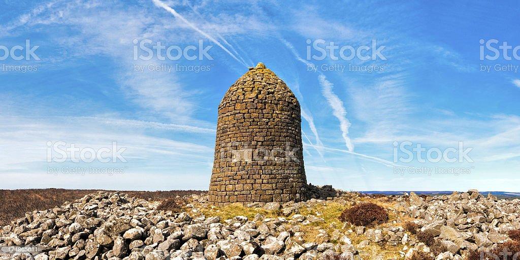 Padon Hill Monument, Pennine Way, Otterburn, Northumberland, UK stock photo