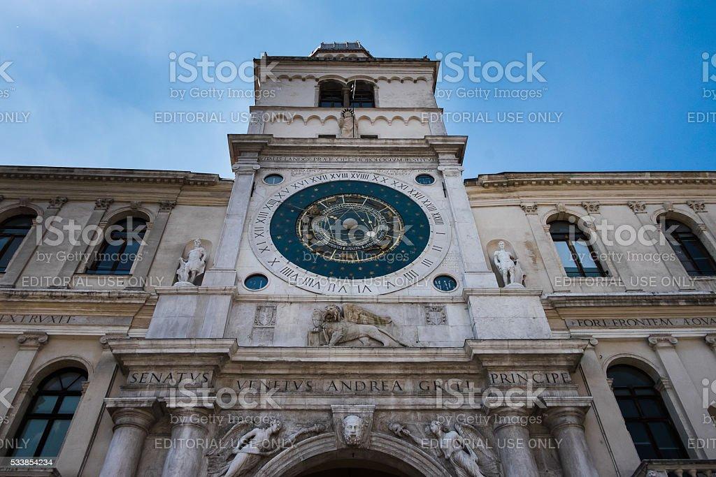 Padova, Italy: Torre dell'Orologio stock photo