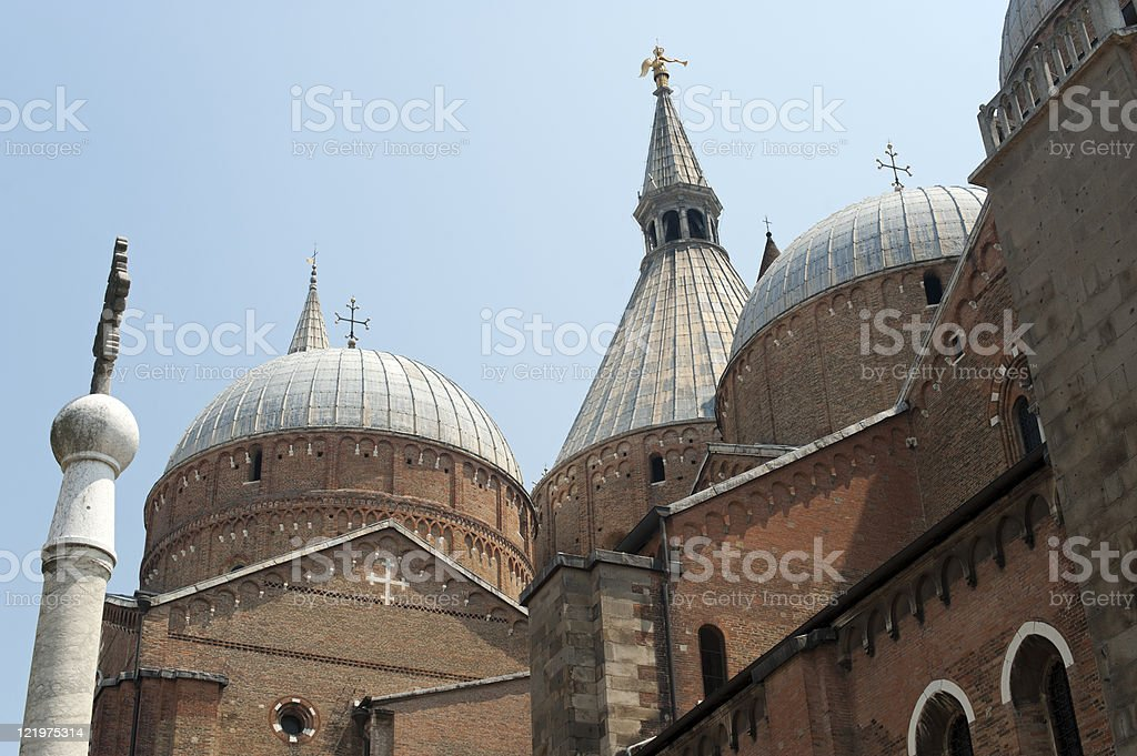 Padova (Veneto, Italy), Sant'Antonio church, domes and spires royalty-free stock photo