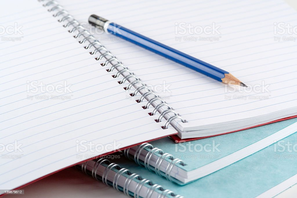 Pads and Pencil royalty-free stock photo