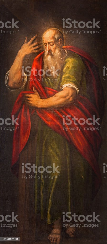 Padua - paint of st. Paul the apostle stock photo