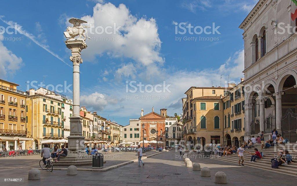 Padua - Piazza dei Signori square stock photo