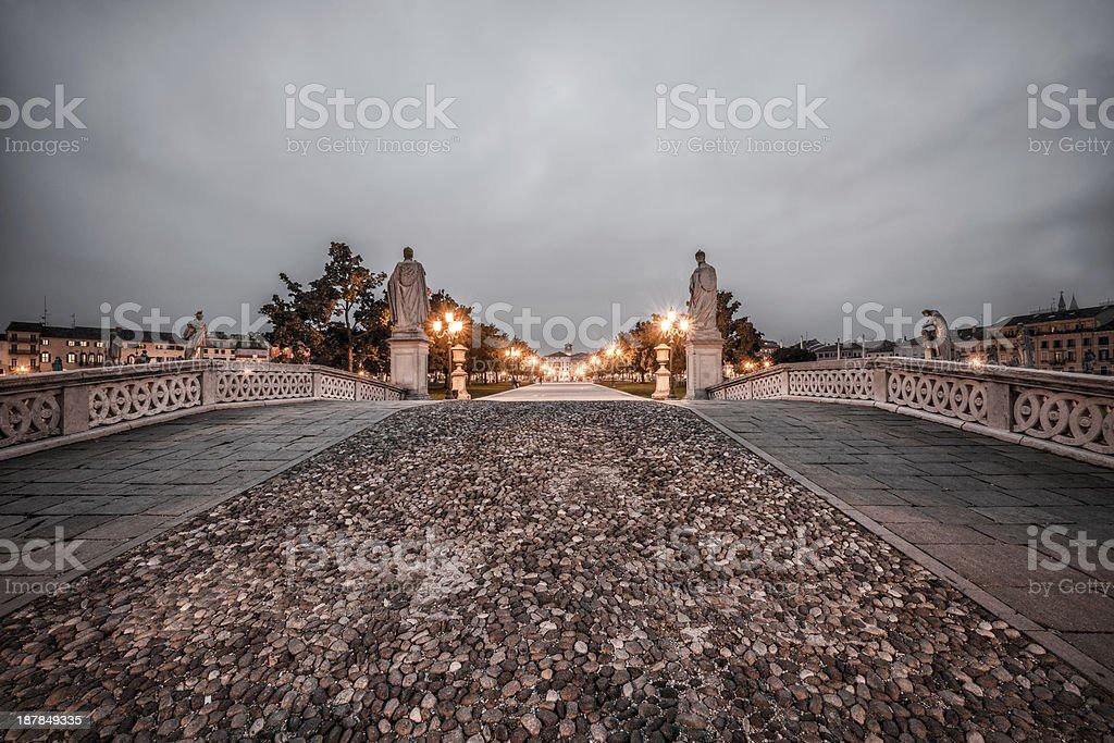 Padua, Prato della Valle stock photo