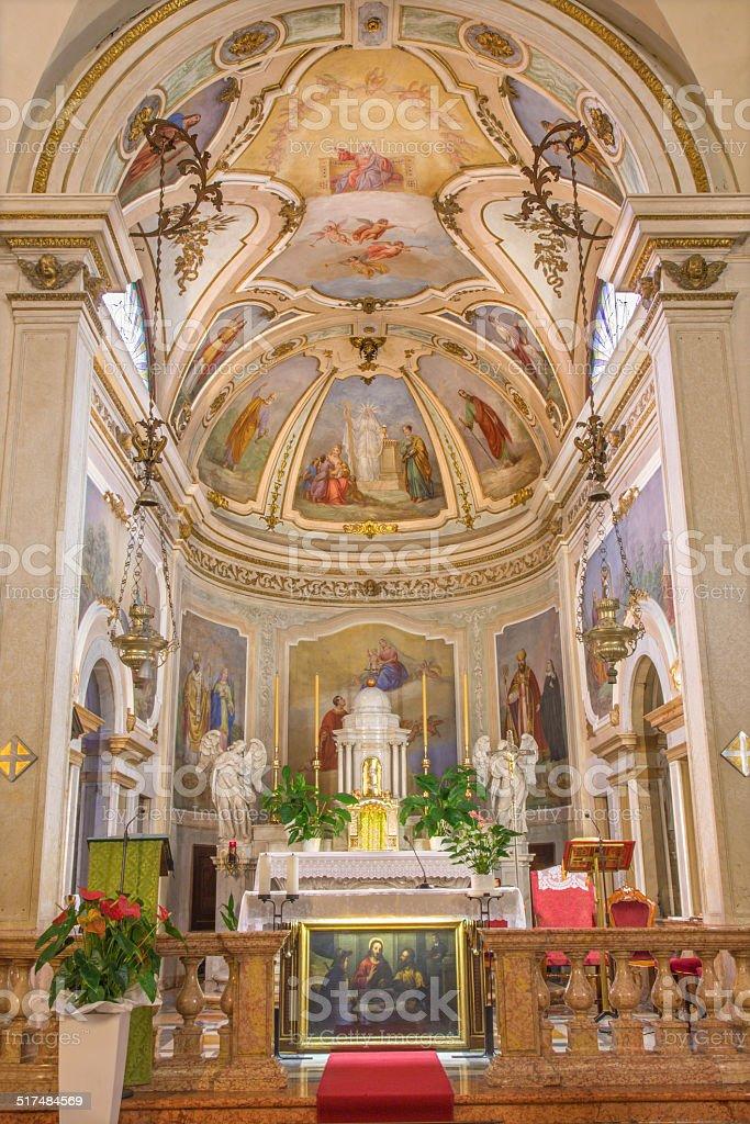 Padua - The Presbytery of church Chiesa di San Daniele. stock photo