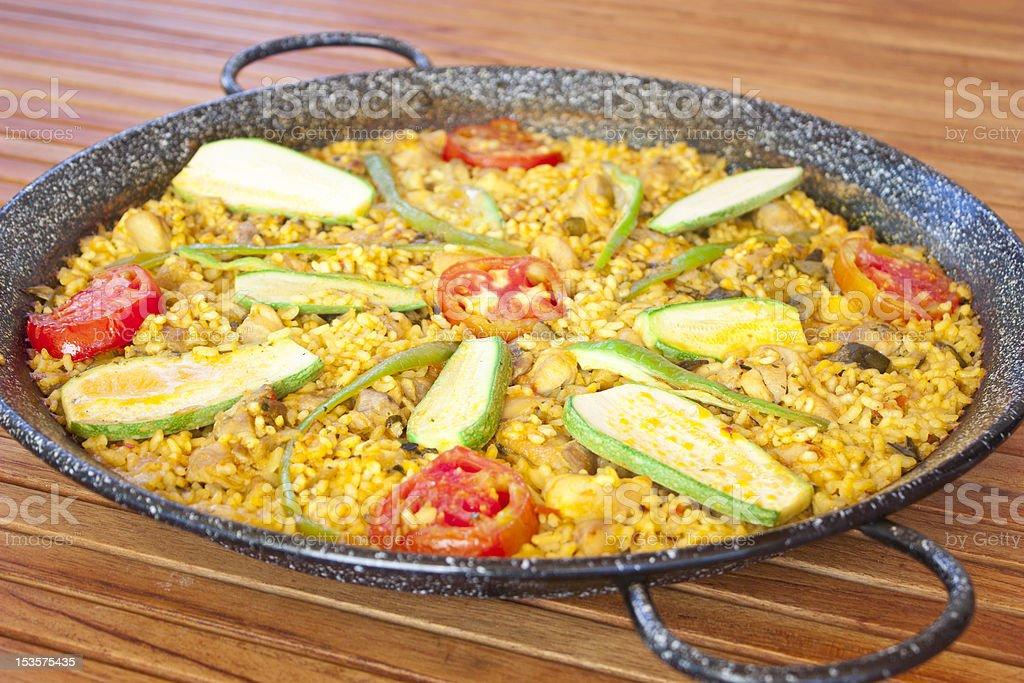 paella stock photo