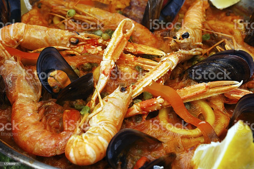 Paella (close up) royalty-free stock photo
