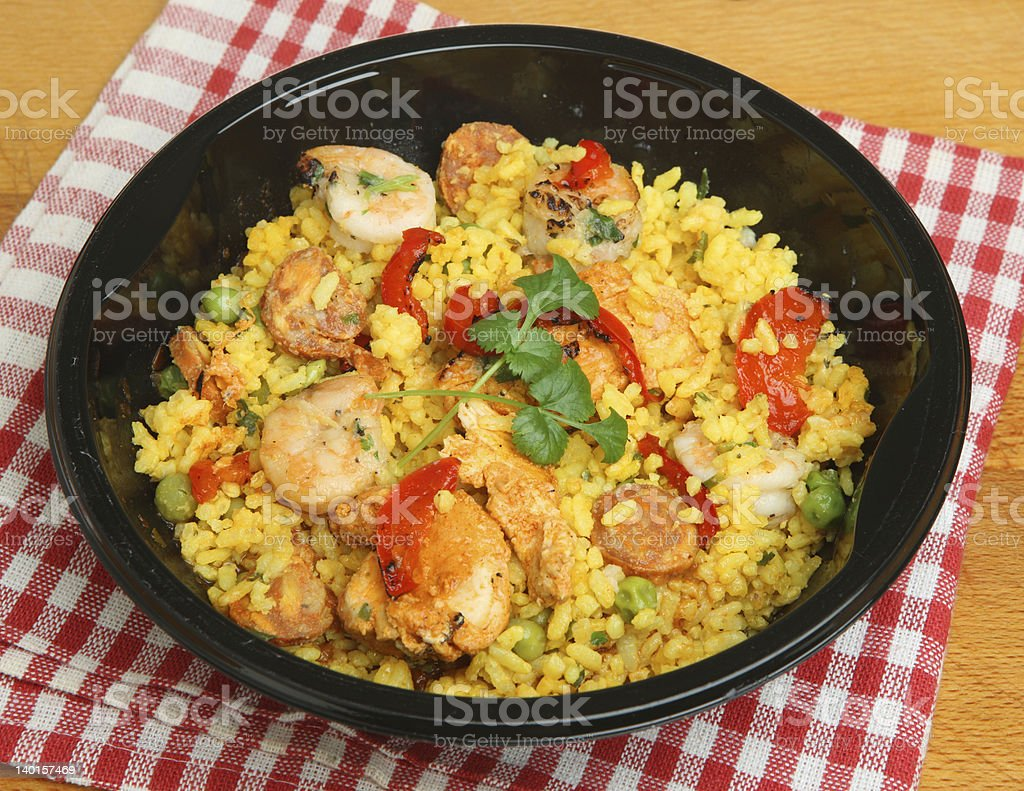 Paella Ready Convenience Meal stock photo