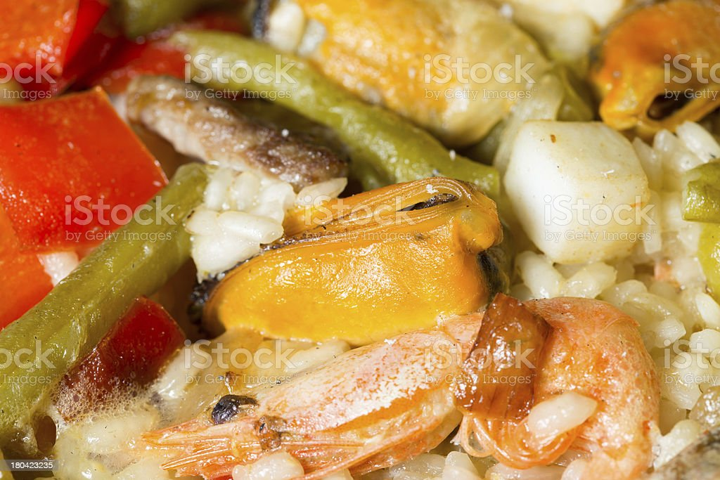 Paella rice royalty-free stock photo