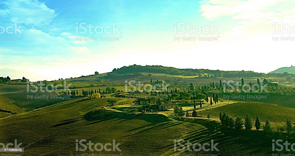 Paesaggio toscano stock photo