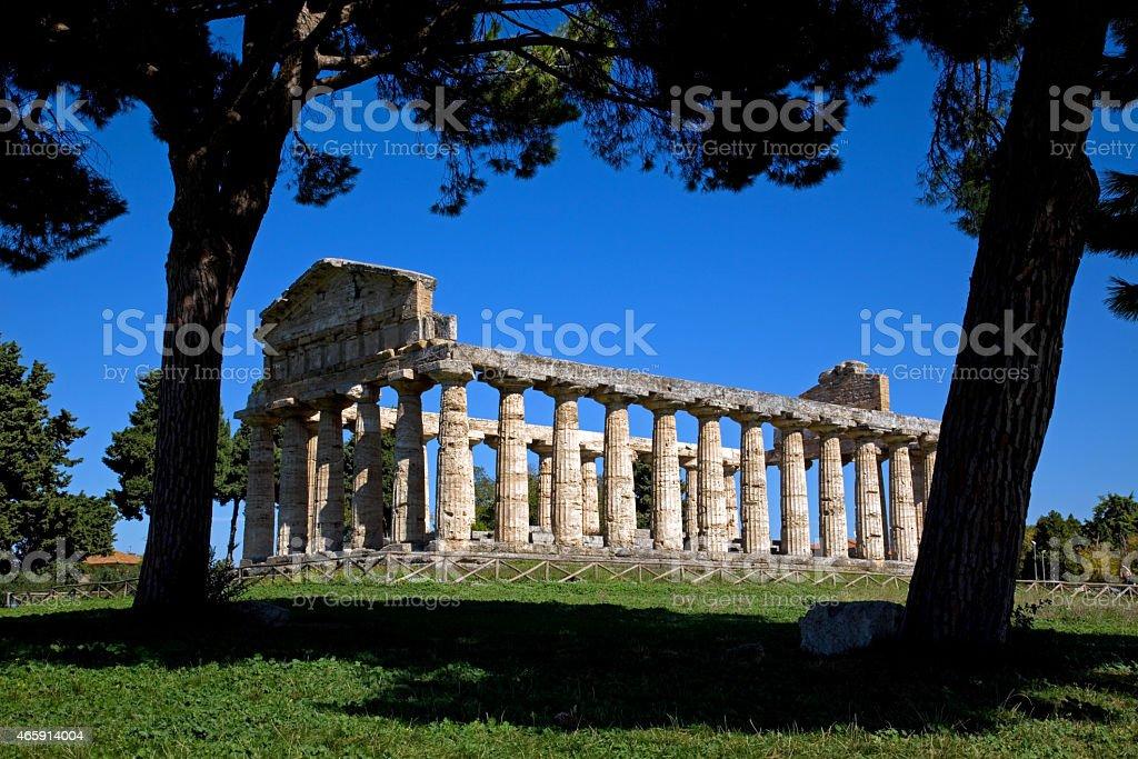 Paestum stock photo