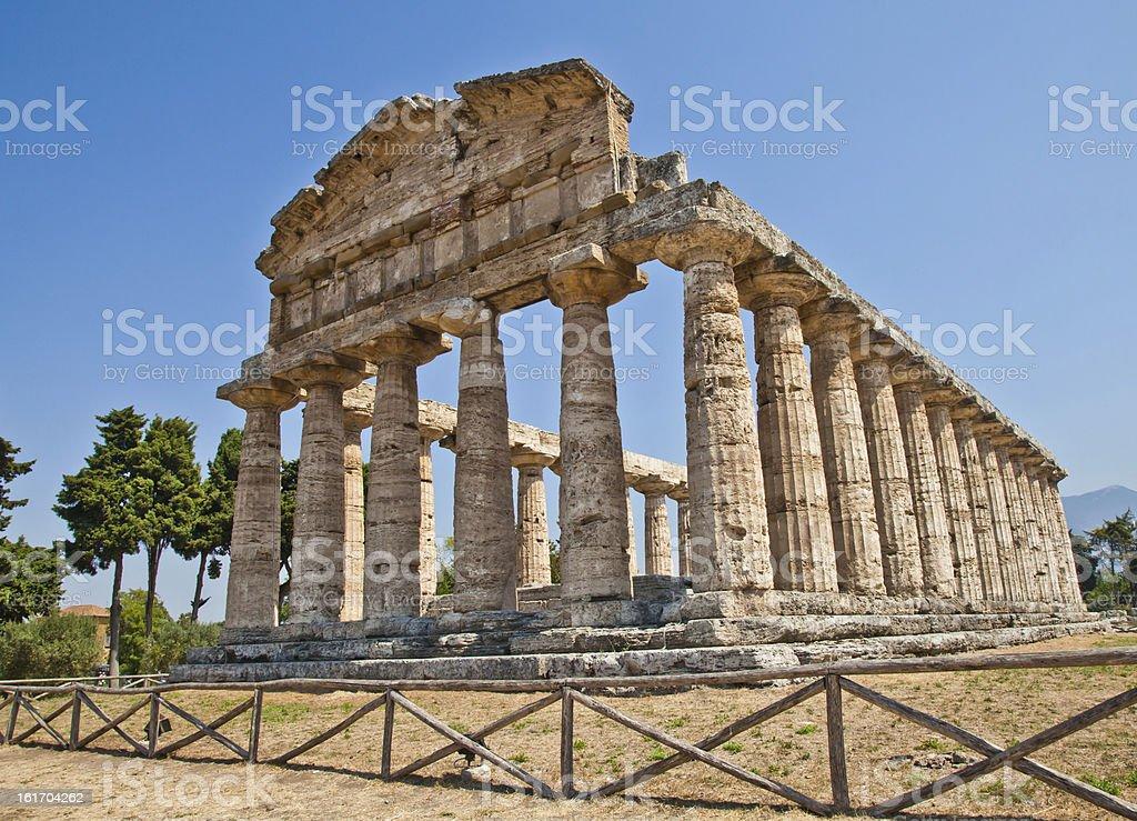 Paestum temple - Italy stock photo