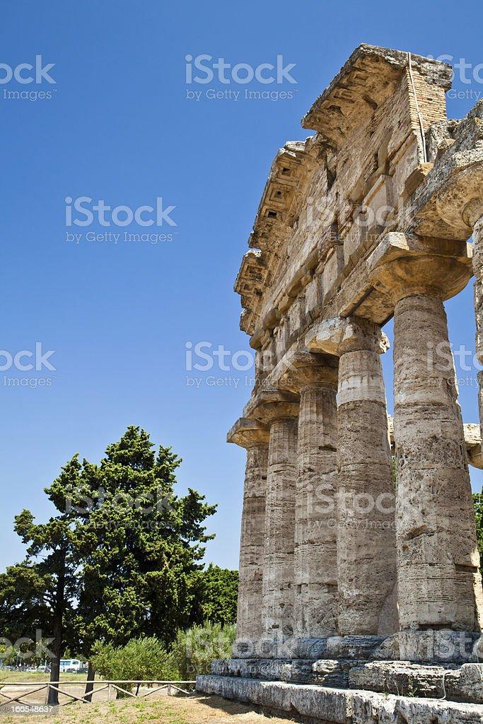 Paestum temple - Italy royalty-free stock photo