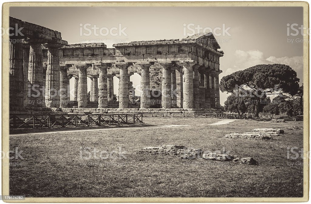 Paestum, Temple of Neptune royalty-free stock photo