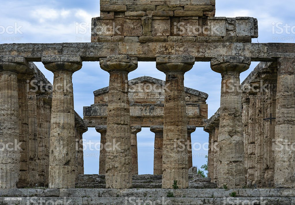 Paestum, the wind and the story stock photo