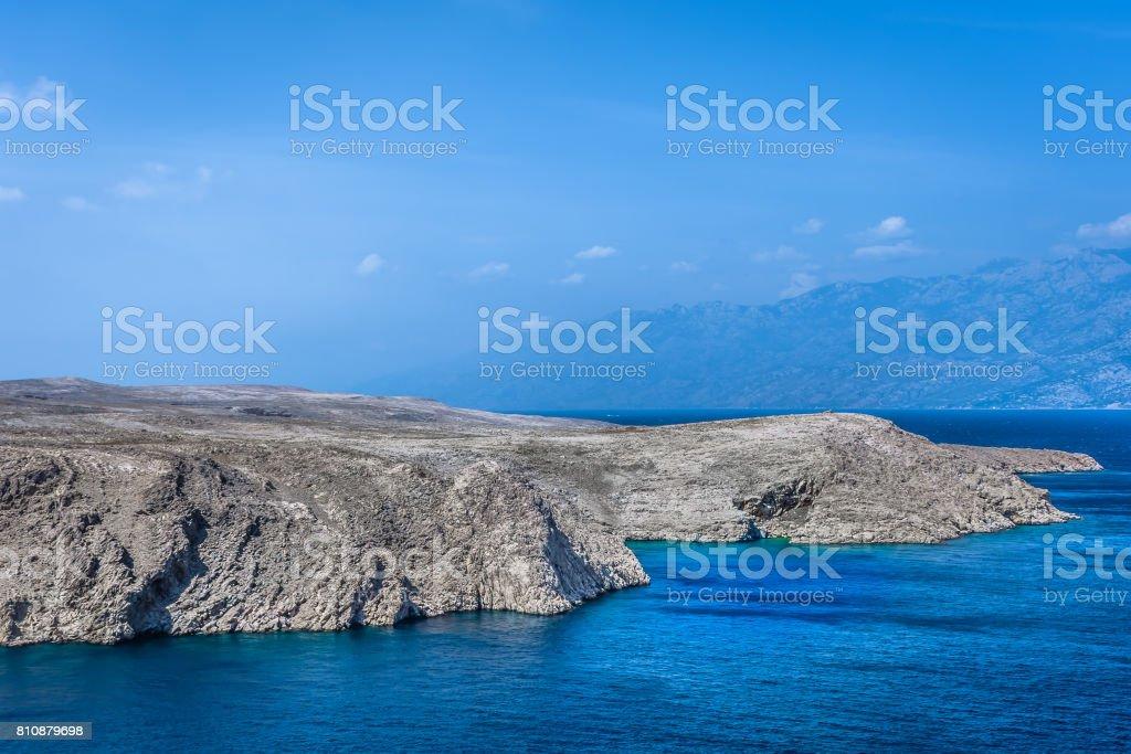 Pag island landscape. stock photo