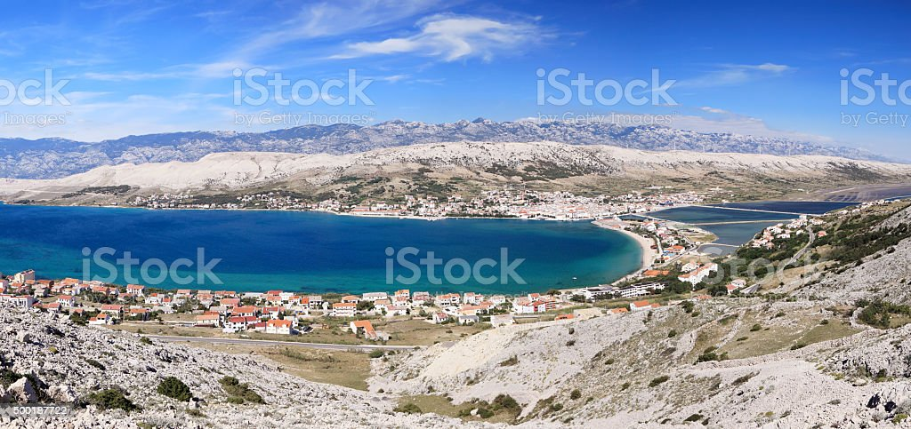 Pag panorama stock photo