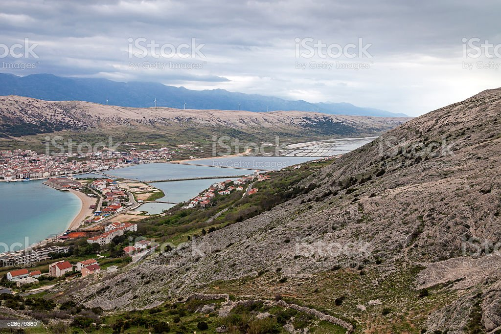 Pag (Croatia) stock photo