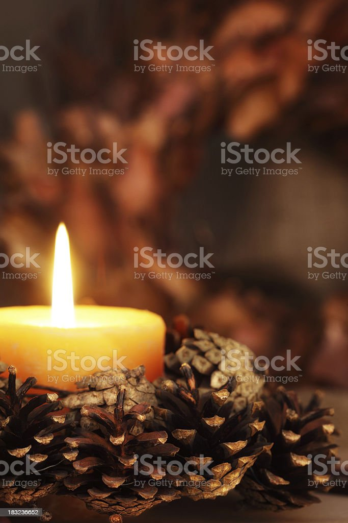 Pagan Altar Decorated for Samhain Celebrations royalty-free stock photo