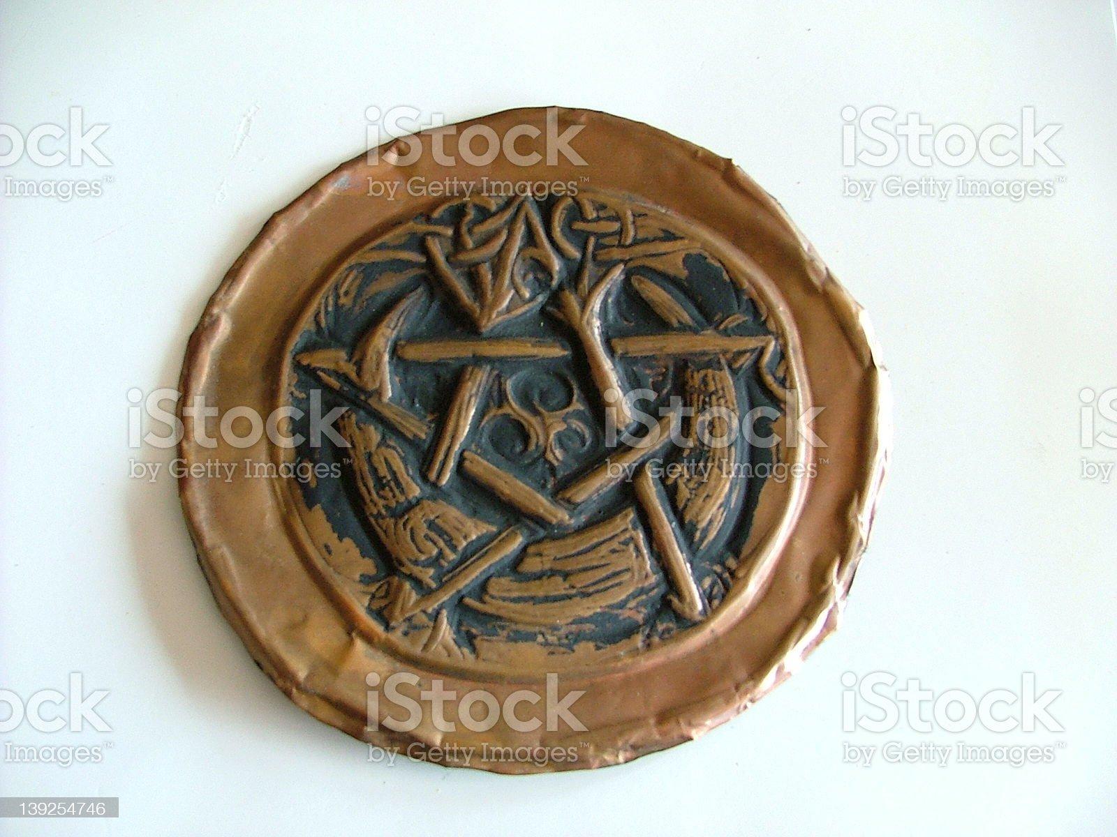 Pagan pentacle royalty-free stock photo