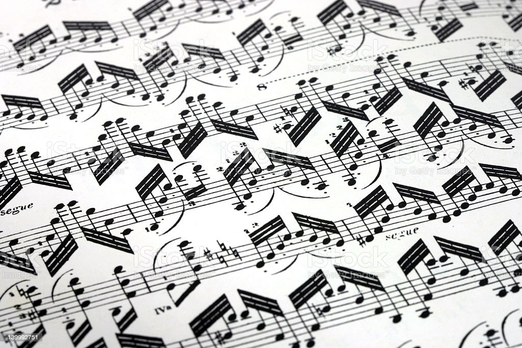 Paganini music sheet stock photo