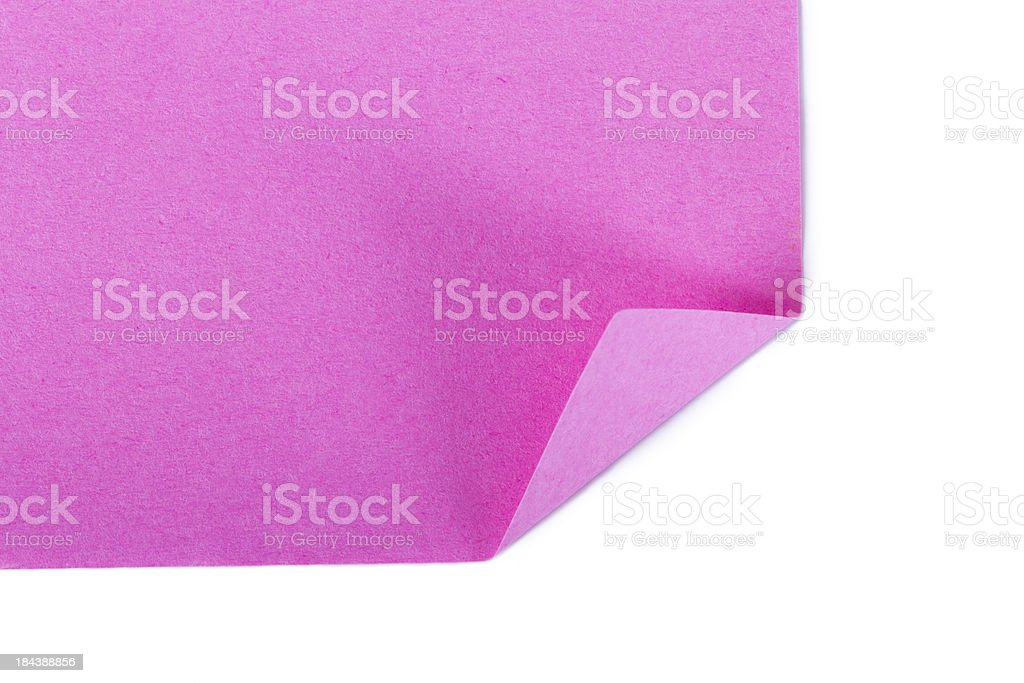 Page Curl of Sticky Post royalty-free stock photo