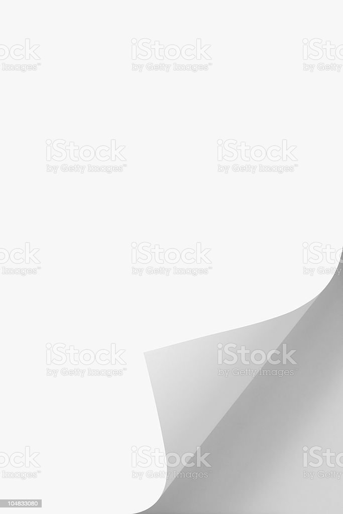 Page Curl royalty-free stock photo