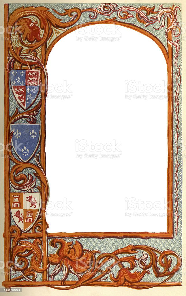 Page from Old Book royalty-free stock photo