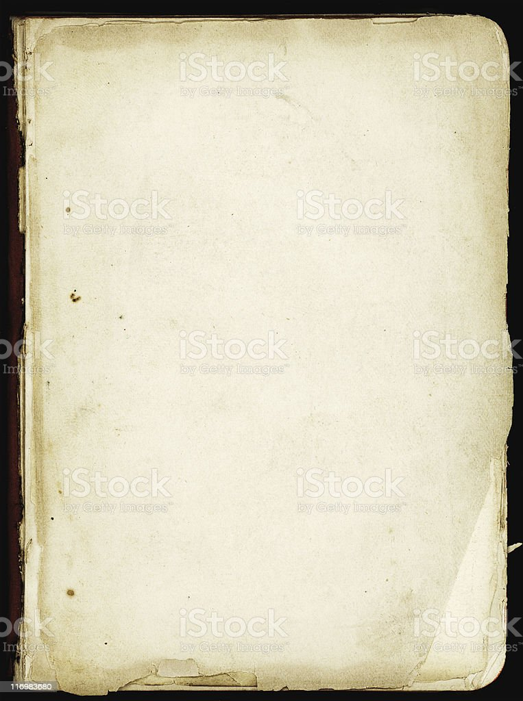 Page in  book stock photo