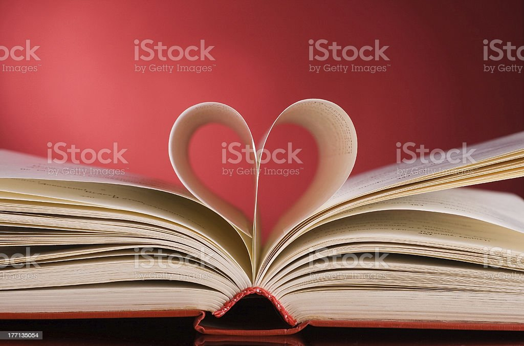 page in the shape of a heart royalty-free stock photo