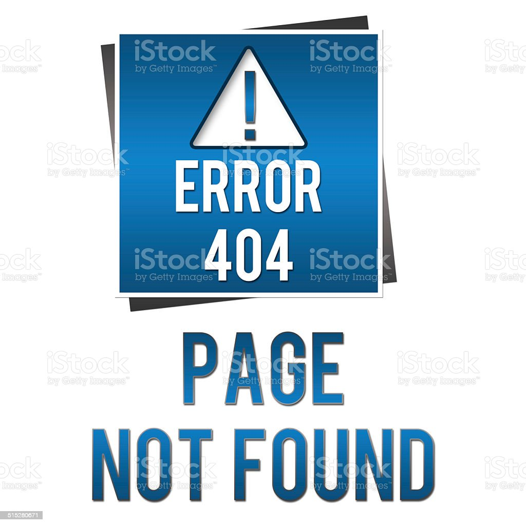 Page Not Found - Blue Square stock photo