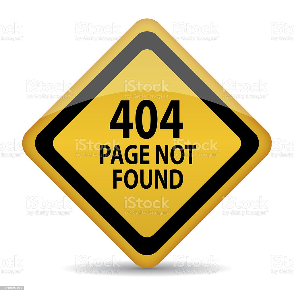 Page not found royalty-free stock photo