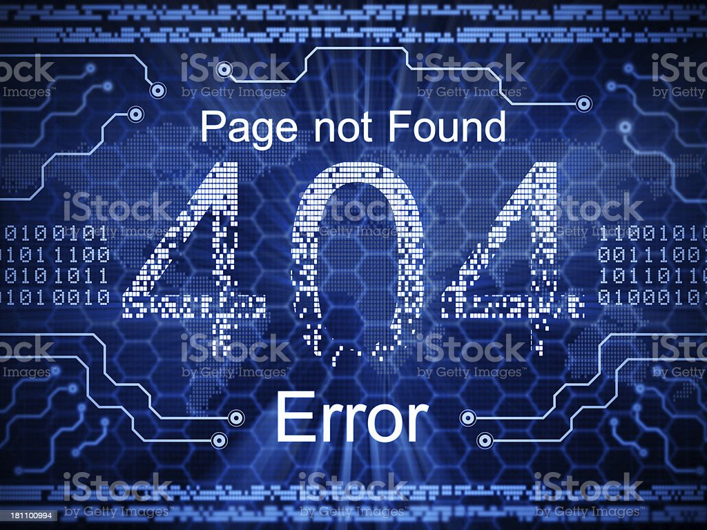 Page Not Found stock photo