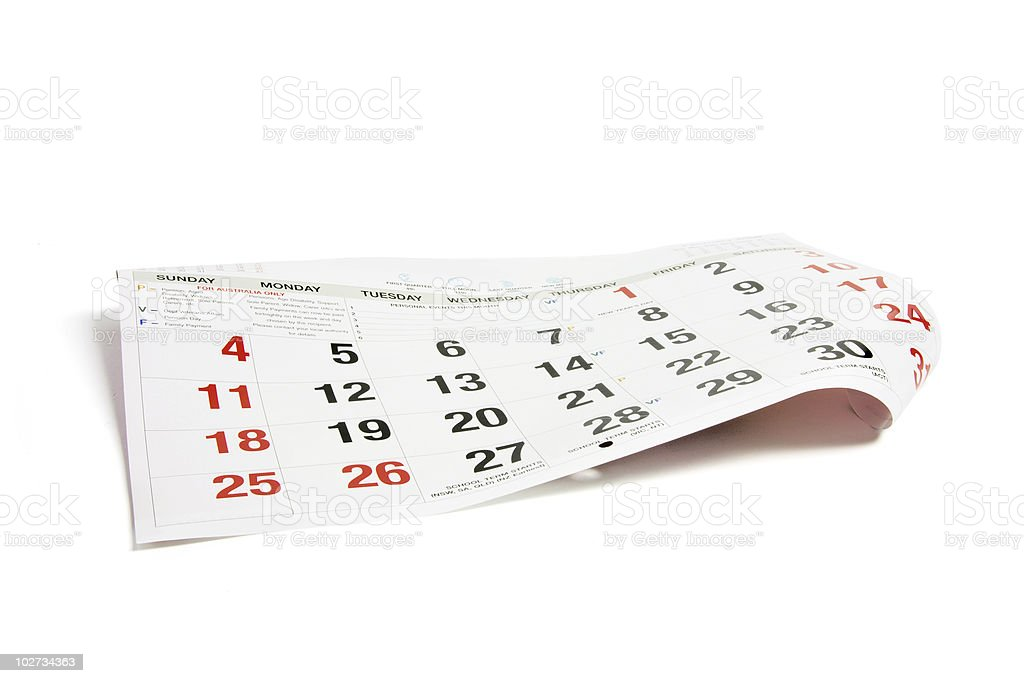 Page of Calendar royalty-free stock photo