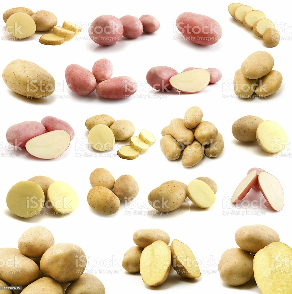 page of potatoes royalty-free stock photo