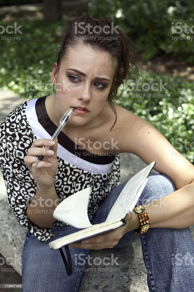 Page turner. stock photo